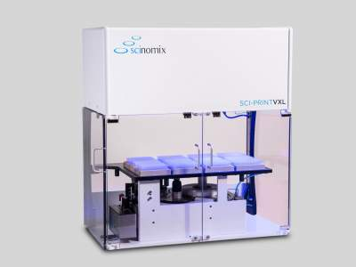 The Sci-Print VXL is a fully automated tube labeling system, capable of printing and applying labels to tubes ranging from 0.5 mL to 50 mL in size.